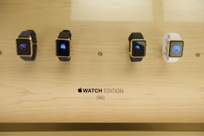 Apple Watch Edition is on display for the release of the Apple Watch at the Eaton Centre Apple Store on Friday, April 10, 2015 in Toronto.