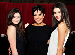 File picture: From left, Kylie Jenner, Kris Jenner and Kendall Jenner. Kris is being sued over an alleged wild party she hosted for her daughter model Kendall's 19th birthday.