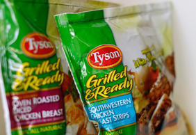 Tyson food meat products are shown in this file photo illustration in Encinitas, California May 29, 2014.