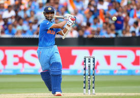 Ajinkya Rahane of India bats during the 2015 ICC Cricket World Cup match between South Africa and India at Melbourne Cricket Ground on February 22, 2015 in Melbourne, Australia.