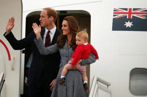 A file picture of Britain's Catherine, the Duchess of Cambridge, with her husband Prince William and their son Prince George.