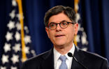 <p>Treasury Secretary Jack Lew speaks at the Treasury Department in Washington in July.</p>