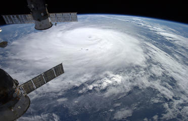 This image provided by NASA shows Hurricane Gonzalo taken from the International Space Station. Alexander Gerst/ESA/NASA/AP