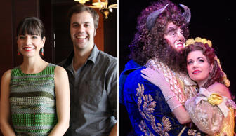 Hilary Maiberger and Darick Pead, the stars of upcoming musical Beauty and the Beast