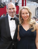 Apple's Steve Jobs and Laurene Powell arrive at the 82nd Annual Academy Awards held at Kodak Theatre on March 7, 2010 in Hollywood, California.