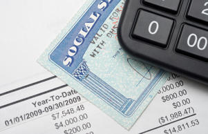 Social Security card & calculator