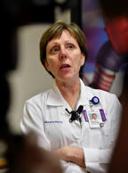 Mary Anne Jackson, infectious disease director, speaks about the respiratory virus EV-D68 with the media   on Wednesday, Jan. 28, 2015, at Children's Mercy Hospital in Kansas City, Mo. The virus has led to polio-like   paralysis, and the hospital is researching the threat. (Jill Toyoshiba/Kansas City Star/TNS via Getty Images)