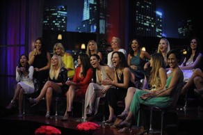 "THE BACHELOR - ""The Women Tell All"" - There were highs and lows during Chris' unforgettable season - and then there was Kelsey, one of the most controversial bachelorettes of the group. Kelsey, who has been the woman viewers and the other bachelorettes have loved to hate all season, will return to have her chance to defend herself. Britt finally faces Carly in one of the most emotional confrontations in Bachelor history. Jade tries to get closure from Chris on whether her Playboy photos really played a part in his decision to send her home, and Kaitlyn challenges Chris about his blindsiding her with his rejection. It's an explosive reunion viewers won't want to miss, as 17 of the most memorable bachelorettes from this season return to confront each other and Chris one last time on national television to tell their side of the story. Then, take a sneak peek at the Season Finale and the final two bachelorettes - Becca and Whitney -- on ""The Bachelor: The Women Tell All,"" MONDAY, MARCH 2 (8:00-10:01 p.m., ET), on the ABC Television Network. (ABC/David Moir) KAITLYN, NIKKI, CARLY, TRINA, JADE, JUELIA, ASHLEY I., TARA, MACKENZIE, AMBER, BRITT, MEGAN, KELSEY, SAMANTHA"