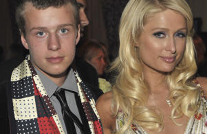 Socialite Conrad Hilton and Paris Hilton.