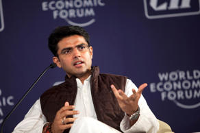 File: Sachin Pilot, India's minister for computers and telecommunications, speaks during the World Economic Forum's India Economic Summit in New Delhi, India, on Tuesday, Nov. 16, 2010.
