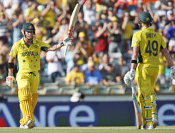 Warner blasted 178 off 133 balls, before Glenn Maxwell inflicted his own carnage with 88 off 39 balls, to lift Australia to 6-417.