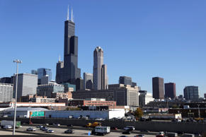 2013 file photo of the 110-story, 1,450-foot Willis Tower rising above the Chicago skyline.
