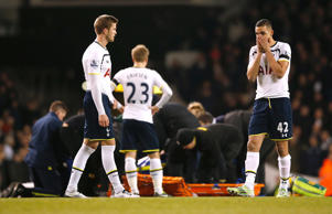 There was concern at White Hart Lane after Bafetimbi Gomis collapsed