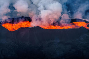 Bardarbunga volcano eruption in Holuhraun,Iceland. Getty Images