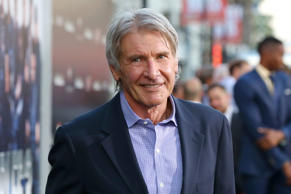 "Harrison Ford arrives at the Lionsgate Los Angeles premiere of ""The Expendables 3"" at TCL Chinese Theatre on Monday, Aug. 11, 2014, in Hollywood, Calif."