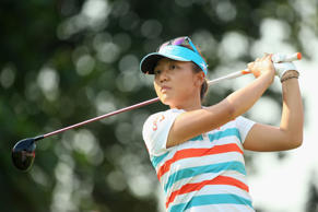 Lydia Ko lies three shots off the pace in a tie for fourth place after two rounds of the HSBC Women's Champions golf tournament in Singapore.