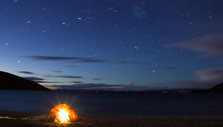 Camping at Titicaca Lake in Isla del Sol (Shutterstock).