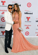 Singer Marc Anthony and his wife Shannon De Lima arrive at the 2015 Latin Billboard Awards in Coral Gables