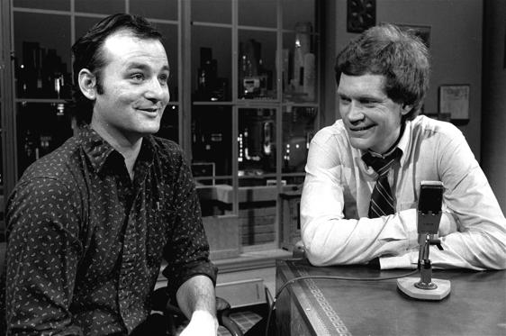 "Slide 2 of 36: David Letterman at the taping of his first talk-comedy hour ""Late Night with David Letterman"" with guest Bill Murray, February 1, 1982 in New York"