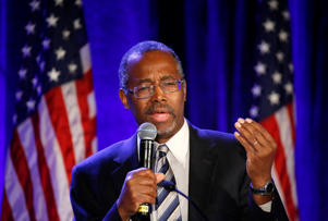 Ben Carson, a retired surgeon popular with Tea Party conservatives.