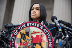 Baltimore City State's Attorney Marilyn J. Mosby announces that criminal charges will be filed against Baltimore police officers in the death of Freddie Gray on May 1, 2015 in Baltimore, Maryland. Gray died in police custody after being arrested on April 12, 2015.