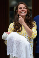 Catherine, Duchess of Cambridge, departs the Lindo Wing with her newborn daughter at St Mary's Hospital on Saturday in London, England. The Duchess was safely delivered of a daughter at 8:34am this morning, weighing 8lbs 3 oz who will be fourth in line to the throne.