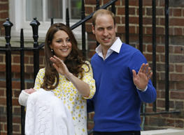 Britain's Prince William and Kate, Duchess of Cambridge and their newborn baby princess.