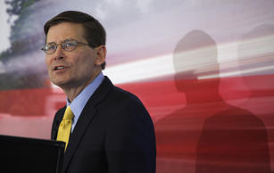 Michael Morell, former deputy director of the Central Intelligence Agency, talks about the hunt for Osama Bin Laden and his views on the ongoing threat from Al-Qaeda in Washington D.C., U.S., on Tuesday, Oct. 15, 2013.