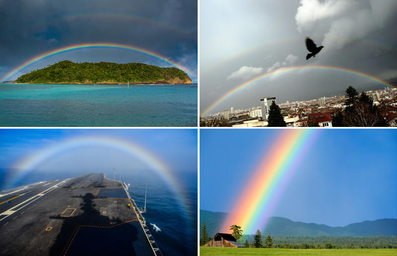 Colors everywhere: Rainbow photos from around the world