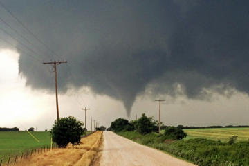 A tornado in Cisco, Texas