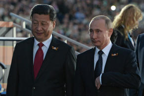 Russian President Vladimir Putin, right, and President of the People's Republic of China Xi Jinping. Host photo agency/RIA Novosti/Getty Images