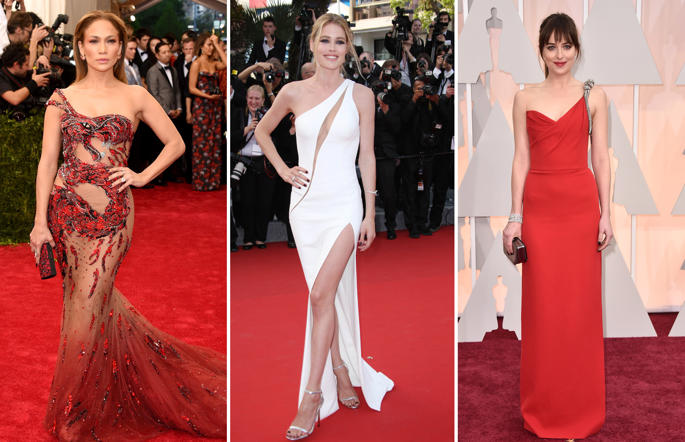 Celeb Style inspiration: One shoulder dresses