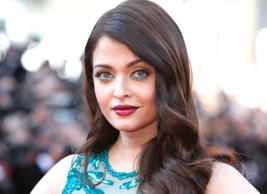 Aishwarya Rai Bachchan poses for photographers upon arrival for the screening of the film Carol at the 68th international film festival, Cannes, southern France, Sunday, May 17, 2015.