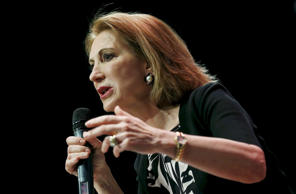 Republican presidential candidate and former Hewlett-Packard CEO Carly Fiorina speaks at the Iowa Faith and Freedom Coalition's forum in Waukee, Iowa, April 25, 2015.