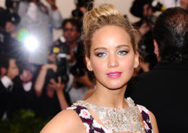 "Jennifer Lawrence arrives at The Metropolitan Museum of Art's Costume Institute benefit gala celebrating ""China: Through the Looking Glass"" on Monday, May 4, 2015, in New York. (Photo by Charles Sykes/Invision/AP)"