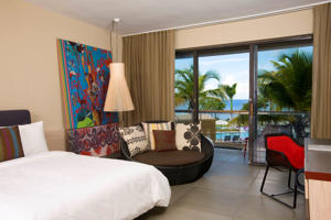 A guest room at the W Retreat and Spa in Vieques, Puerto Rico.