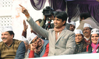 File: AAP leader Kumar Vishwas addresses a rally on January 12, 2014 in Amethi, India.