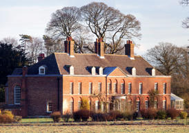 general view of the front of Anmer Hall on the Sandringham Estate on January 13, 2013 in King's Lynn, England. It has been reported that Queen Elizabeth II is to give Anmer Hall to Prince William, Duke of Cambridge and Catherine, Duchess of Cambridge to be their country house.