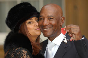File picture: Errol Brown is pictured here with his wife Ginette. The singer, famous for hits including You Sexy Thing and It Started With A Kiss, died at home in the Bahamas, his manager Phil Dale said on Wednesday.