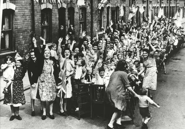 VE Day street party, England, May 8, 1945.