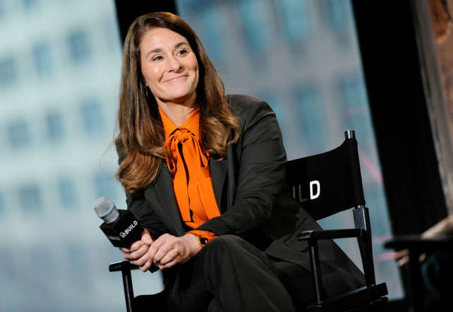 Philanthropist Melinda Gates participates in AOL's BUILD Speaker Series at AOL Studios on Tuesday, March 10, 2015, in New York. (Photo by Evan Agostini/Invision/AP)