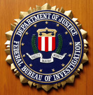 Logo of the Federal Bureau of Investigation of the Department of Justice of the United States of America.