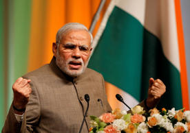 File: Prime Minister Narendra Modi speaking at an event during his Japan trip.