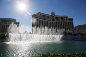 The Bellagio Hotel and Casino on the Vegas Strip