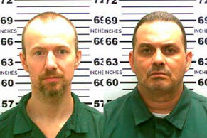 Undated photo released by the New York State Police shows from left David Sweat and Richard Matt who escaped from the Clinton Correctional Facility in Dannemora.