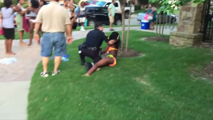 Texas Cop In Hot Water After Pool Party Bust