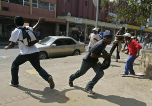File photo of Swaziland trade union and anti-government protesters during a rally in Swaziland.