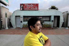 Fernando Alarcon, who works inside the tamale-shaped building. Irfan Khan/Los Angeles Times