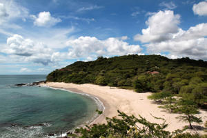 A general view of Guacalito de la Isla beach at Nicaragua's Pacific coast.