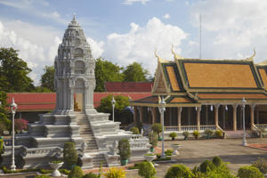 Kantha Bopha Stupa at Silver Pagoda in Royal Palace, Phnom Penh, Cambodia.